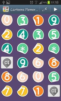 Cartoons Memory Kids Game screenshot 1