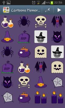 Cartoons Memory Kids Game screenshot 2