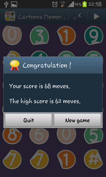 Cartoons Memory Kids Game screenshot 4