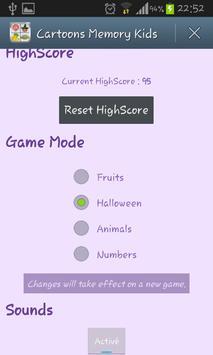 Cartoons Memory Kids Game screenshot 6