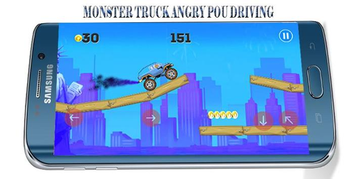 Angry POU-POU Drives Ahead screenshot 1