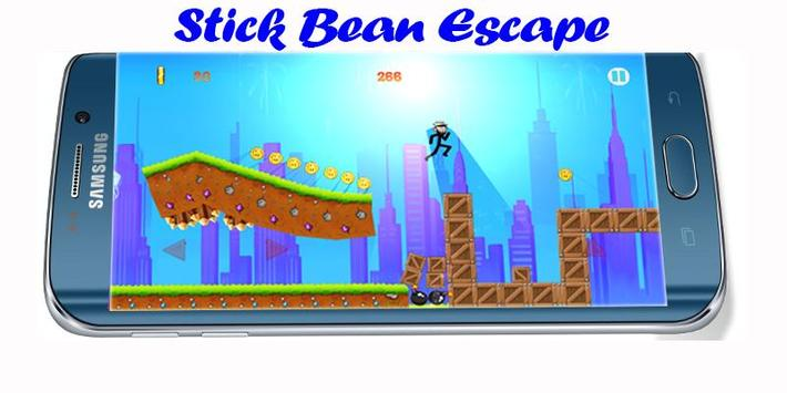 Mr Stick Bean escape poster