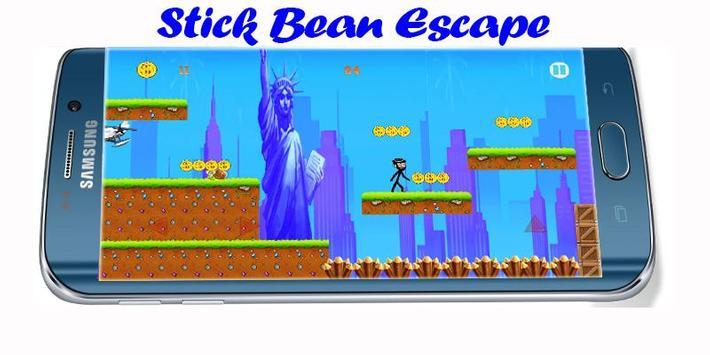 Mr Stick Bean escape apk screenshot