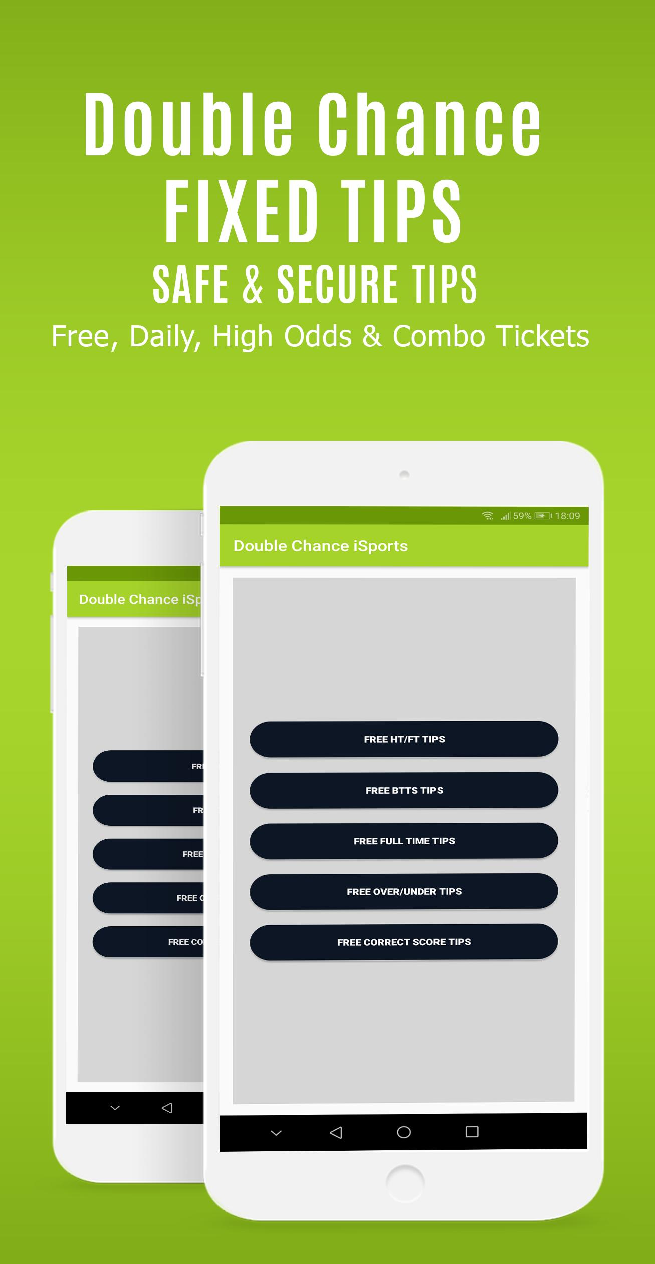 Double Chance Fixed Matches & Betting Tips 1X2 Bet pour Android