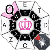 Pink Crown Keyboard icon