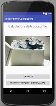 Isoporzinho Calculadora apk screenshot