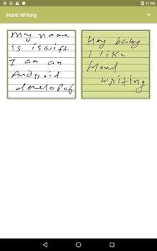 Handwriting screenshot 1