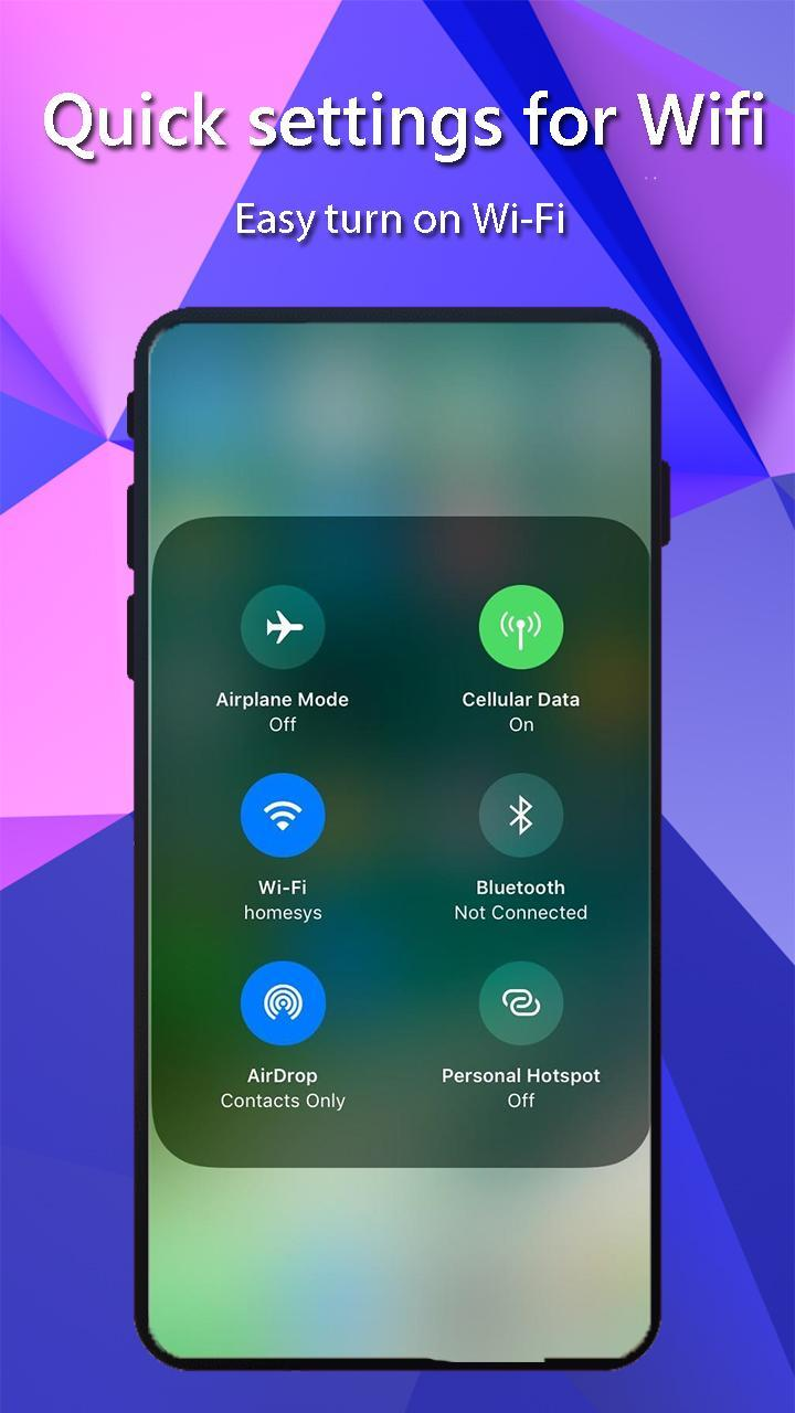 Control Center IOS 12: Smart Control for Phone XS for