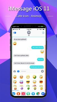 iMessenger: Message IOS 11 style Phone X screenshot 6