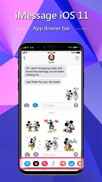 iMessenger: Message IOS 11 style Phone X poster