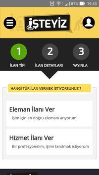 İşteyiz - Hizmet & İş İlanları apk screenshot