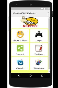 Chistes Cortos y Graciosos app poster