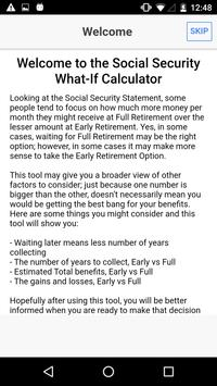 Social Security What IF poster