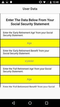 Social Security What IF screenshot 2