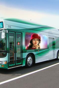 Modern Bus Photo Frame Editor poster
