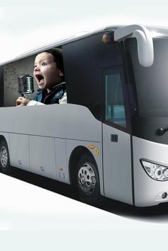Modern Bus Photo Frame Editor screenshot 1
