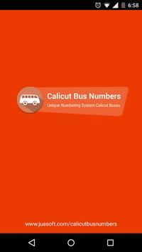 Calicut Unique Bus Number poster