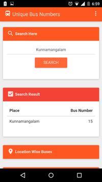 Calicut Unique Bus Number screenshot 3