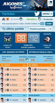 Jugones Liga Endesa apk screenshot