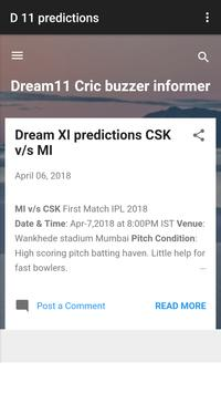 Dream 11 cricket tips poster