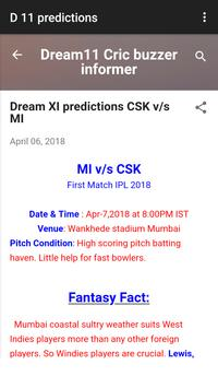 Dream 11 cricket tips screenshot 1