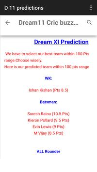 Dream 11 cricket tips screenshot 2
