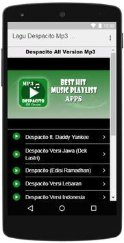 Lagu Despacito Mp3 All Version poster