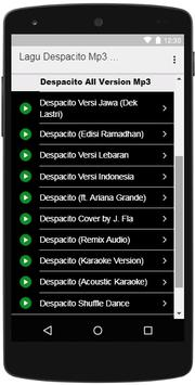Lagu Despacito Mp3 All Version screenshot 1