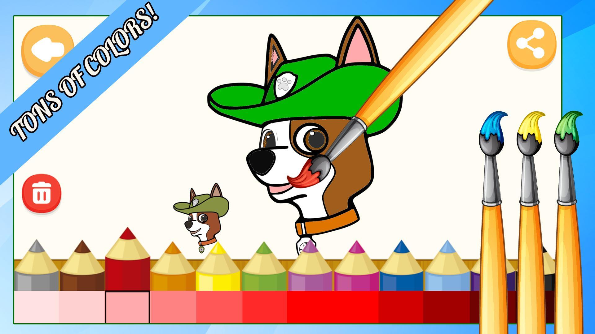 щенячий патруль раскраски игра для андроид скачать Apk