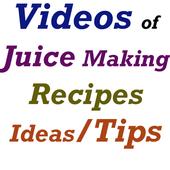 Juice Making Recipes Video App icon