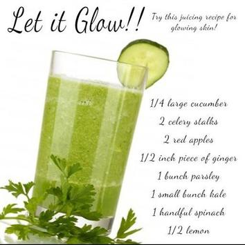 juicing for health recipes poster