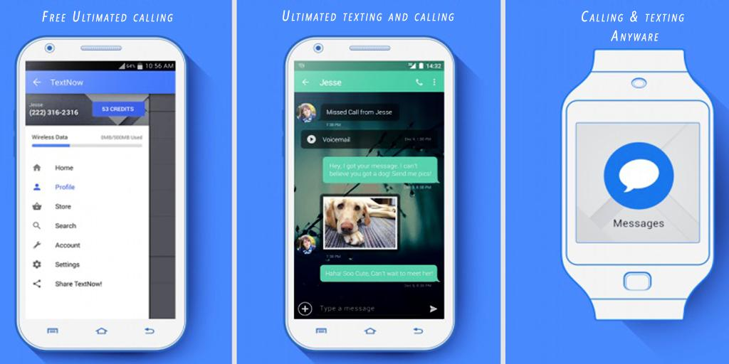 Text Now Unlimited Free calls for Android - APK Download
