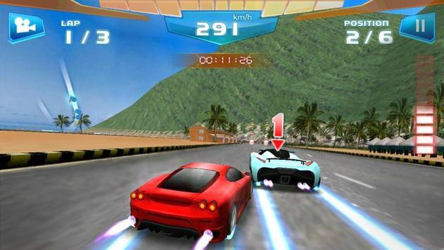 Corrida Rápida 3D -Fast Racing imagem de tela 1
