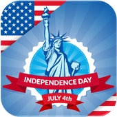 4th July Independence Day icon