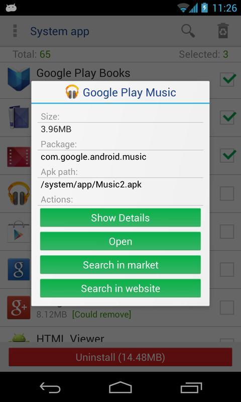 System App Remover [ROOT] на андроид, скачать на планшет - избавимся от мусора