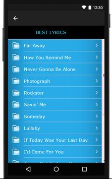 Nickelback Songs & Lyrics, latest. screenshot 3