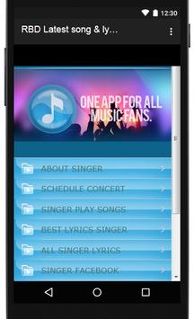 RBD Songs & Lyrics, latest. screenshot 2