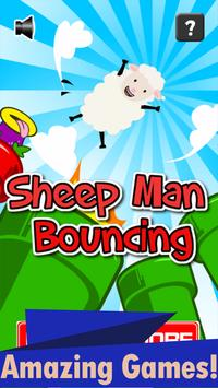 Sheep Man Bouncing poster