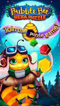 Bubble Bee - Hexa Puzzle poster