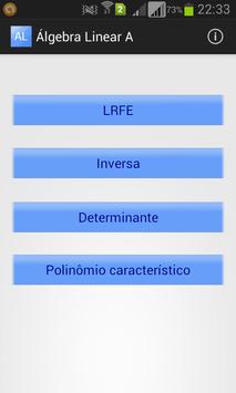 Álgebra Linear A poster