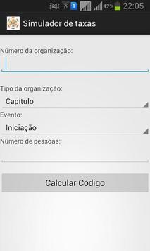 Simulador de Taxas GCE apk screenshot