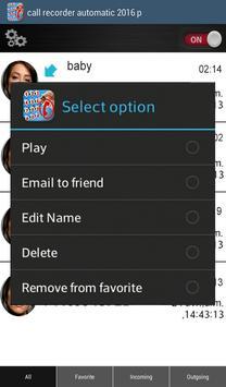 Call recorder automatic 2016 p apk screenshot