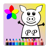 Pepy Pig Paint Book icon