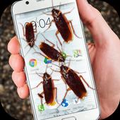 Bug in Phone funny joke icon