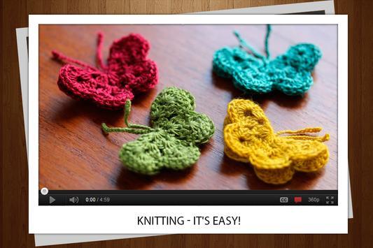 Knitting single poster