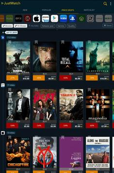 JustWatch - Search Engine for Streaming and Cinema apk screenshot