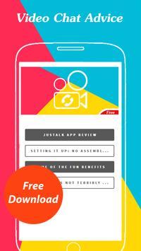 Free Justalk Video Call Advice poster