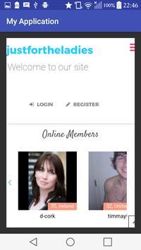 Justfortheladiesdating.com- Free Dating App screenshot 1