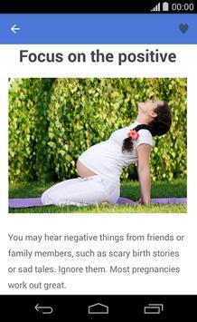 Tips for a healthy pregnancy apk screenshot