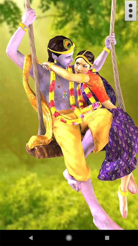 3d Radha Krishna Jhulan Live Wallpaper For Android Apk Download